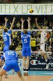 Décharge Champions League de CEV 2010/2011 quatre final Photo stock