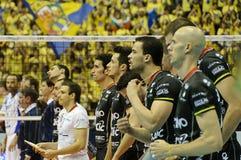 Décharge Champions League de CEV 2010/2011 quatre final Photo libre de droits