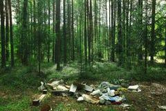 Décharge dans les bois Image libre de droits