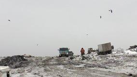 Décharge de déchets de ville clips vidéos