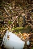 décharge de déchets illégale Photo libre de droits