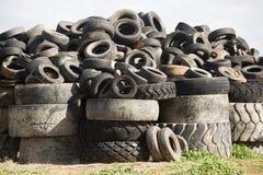 Décharge de pneu, Cobram Victoria Images libres de droits