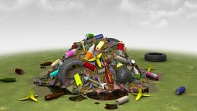 Décharge sur la pelouse, illustration 3d Photos libres de droits