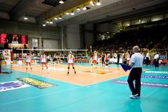 Décharge - volleyball tout le jeu 2008 d'étoile Image libre de droits