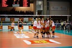 Décharge - volleyball tout le jeu 2008 d'étoile Photo libre de droits