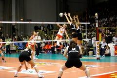 Décharge - volleyball tout le jeu 2008 d'étoile Image stock