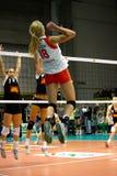 Décharge - volleyball tout le jeu 2008 d'étoile Images libres de droits