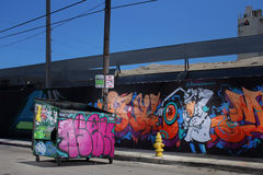 Décharge Wynwood Miami de graffiti Photos stock