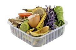 Déchets alimentaires de cuisine images stock
