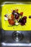 Déchets alimentaires naturels réutilisant le concept Image stock