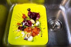 Déchets alimentaires naturels réutilisant le concept Photos libres de droits