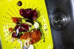 Déchets alimentaires naturels réutilisant le concept Photographie stock libre de droits