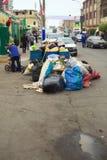 Déchets au marché à Lima, Pérou Images libres de droits