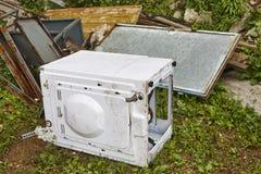 Déchets d'appareils de Chambre Gestion des déchets Pollution d'environnement photo stock