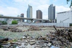 Déchets d'ordure à Bangkok central le 19 juin 2015 Photographie stock libre de droits