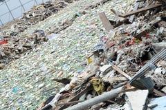 Déchets d'ordure à Bangkok central le 19 juin 2015 Image libre de droits