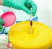 Déchets dangereux dans l'hôpital Photo stock