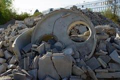 Déchets de blocaille de construction Image stock