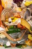 Déchets de ménage, déchets, verre cassé, nettoyant photographie stock
