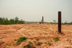 Déchets de montagne de la société urbaine dans les pays sous-développés Asie du Sud-Est Une partie de la denrée d'agriculture de  photographie stock libre de droits
