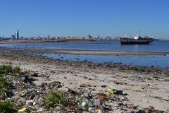 Déchets de Montevideo Photos libres de droits