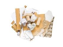 Déchets de papier d'isolement sur le blanc Photo libre de droits