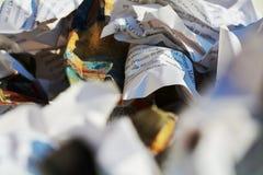 Déchets de papier, plan rapproché images libres de droits