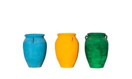 déchets de pots de couleur en Egypte Images stock