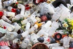 Déchets en plastique images stock
