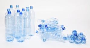 Déchets en plastique de bouteille d'eau Photographie stock libre de droits