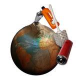 déchets environnementaux de pollution d'ordures illustration stock