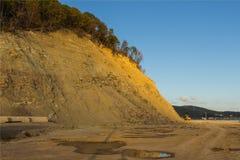 Déchets et déchets sur la plage Images libres de droits
