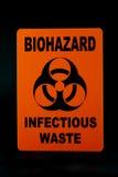 Déchets infectieux images stock