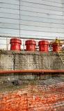 Déchets nucléaires à la centrale nucléaire de Chernobyl Photographie stock libre de droits