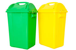 Déchets verts et jaunes Image stock