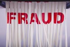 Déchiquetage de la fraude. Photos libres de droits