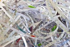 Déchiquetage de papier Photos libres de droits