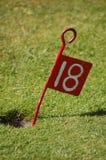 Décimo octava bandera del agujero Foto de archivo libre de regalías
