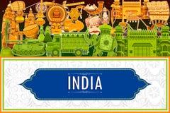 décimo quinto August Independence del fondo tricolor de la India Fotografía de archivo libre de regalías