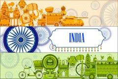 décimo quinto August Independence del fondo tricolor de la India ilustración del vector