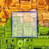 décimo quinto August Independence del fondo tricolor de la India Fotos de archivo libres de regalías