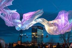 """décimosexto centro comercial 2018 Festival del †de Zagreb, Croacia """"de la luz en Zagreb fotos de archivo libres de regalías"""