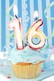 Décimosexto cumpleaños del muchacho adolescente Foto de archivo libre de regalías