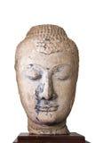 décimosexto - siglo XVII A d cabeza de una imagen de Buda en Ayutthaya Foto de archivo libre de regalías