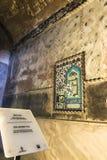 d?cimosexto y del siglo XVII teja de Iznik que representa el Kaaba en Hagia Sophia imagen de archivo