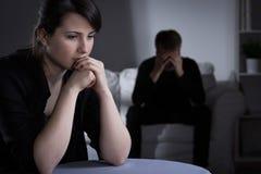 Décision au sujet de divorce Images stock