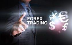 Décision d'investisseur sur le threme de graphique de forex Image stock
