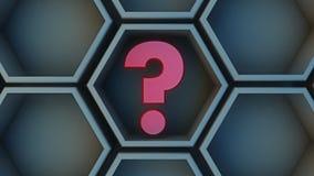 Décision hexagonale et interrogeante de cube Photographie stock libre de droits
