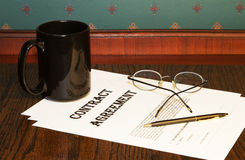 Décisions d'accord de contrat Image libre de droits