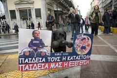 déclameurs à Athènes 18_12_08 Photos stock